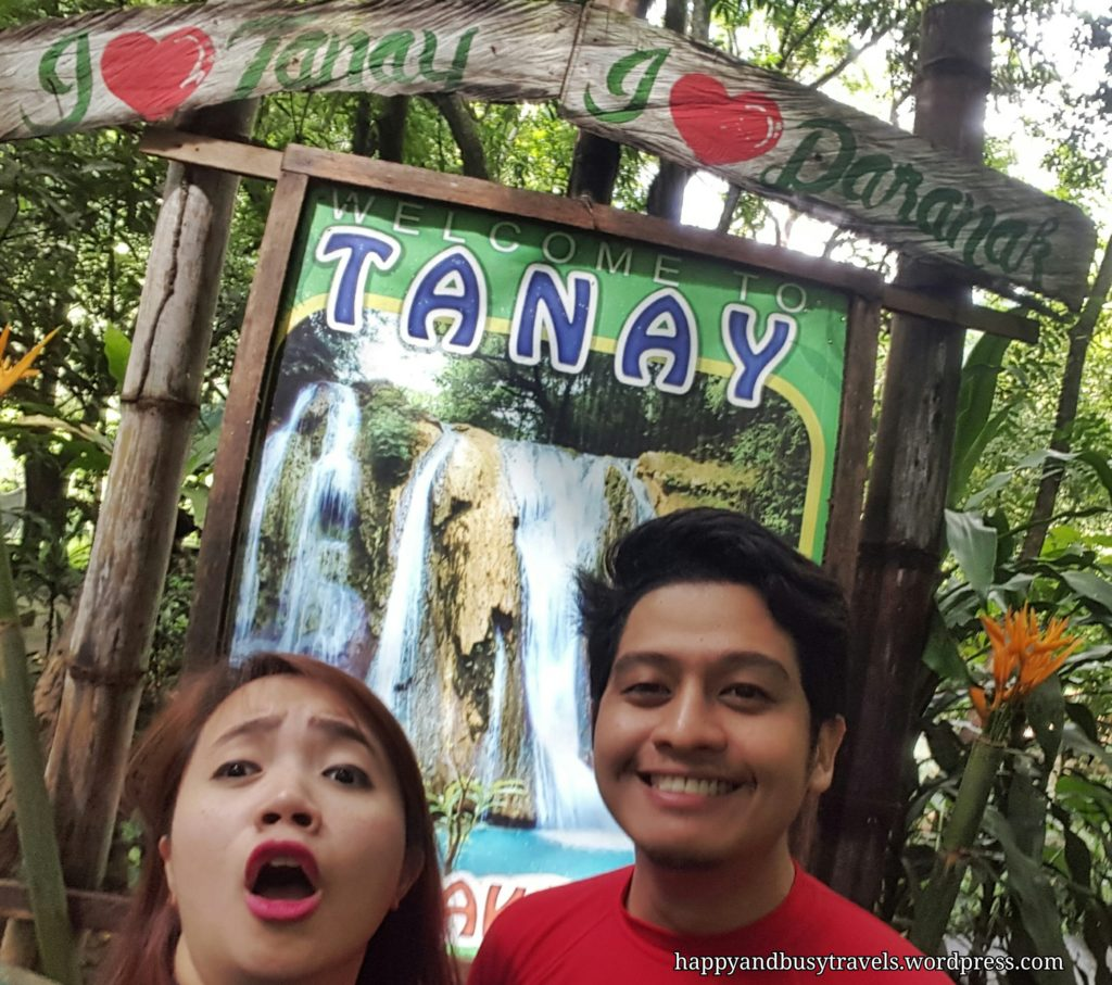 I love Tanay - Daranak Falls sign