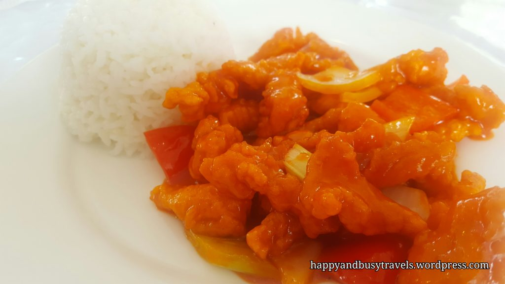 Sweet and Sour Pork Rice Meal