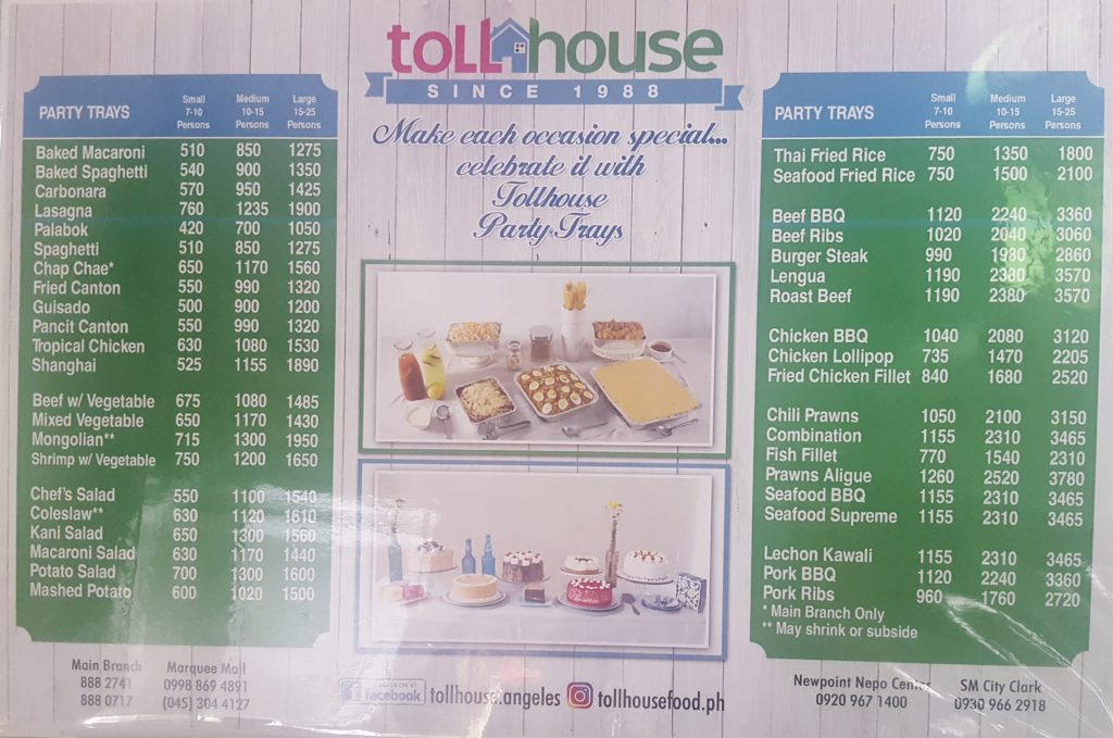 Party Tray Toll House Angeles Pampanga