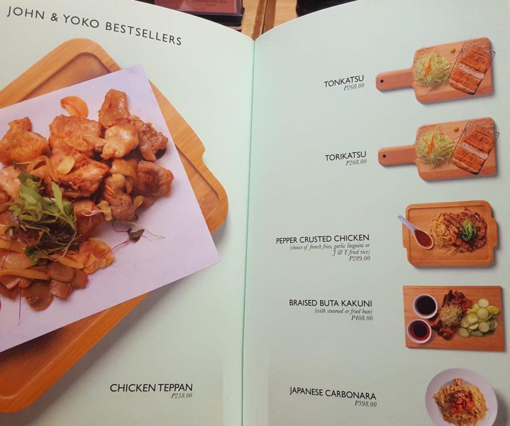 Bestsellers Menu - John and Yoko Cosmopolitan Japanese Restaurant