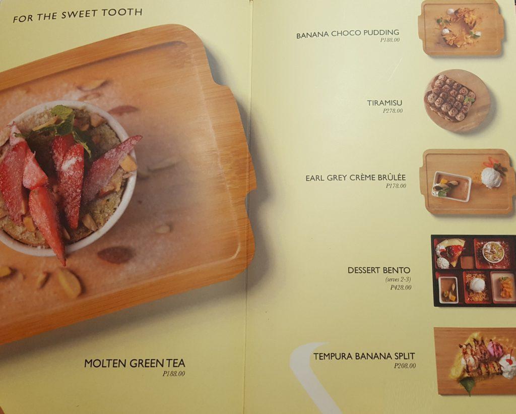 Desserts - John and Yoko Cosmopolitan Japanese Restaurant