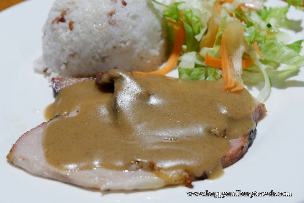 yoghurt house roasted pork with brown sauce - Happy and Busy Travels to Sagada