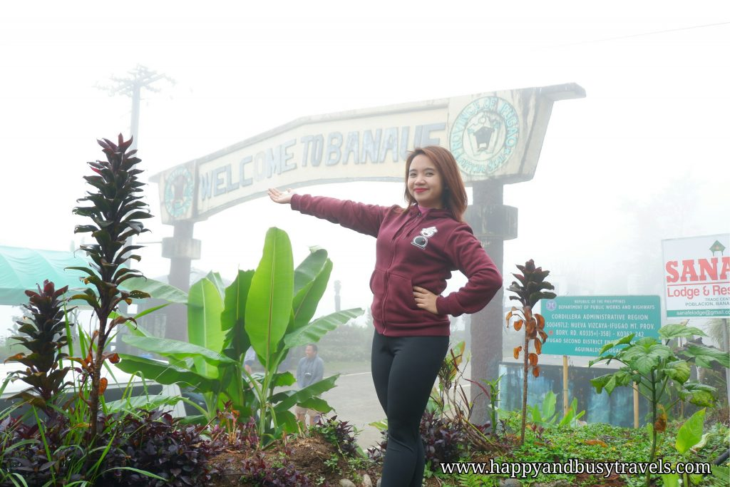 Welcome to Banaue sign - Happy and Busy Travels to Sagada