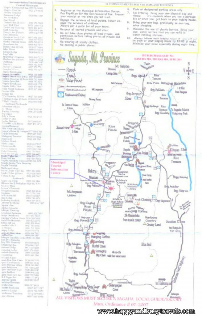 Sagada map - Happy and Busy Travels to Sagada