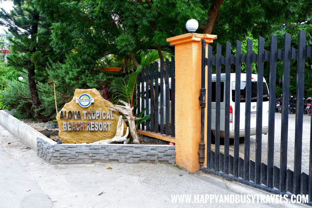 Alona Tropical Beach Resort Entrance from the road