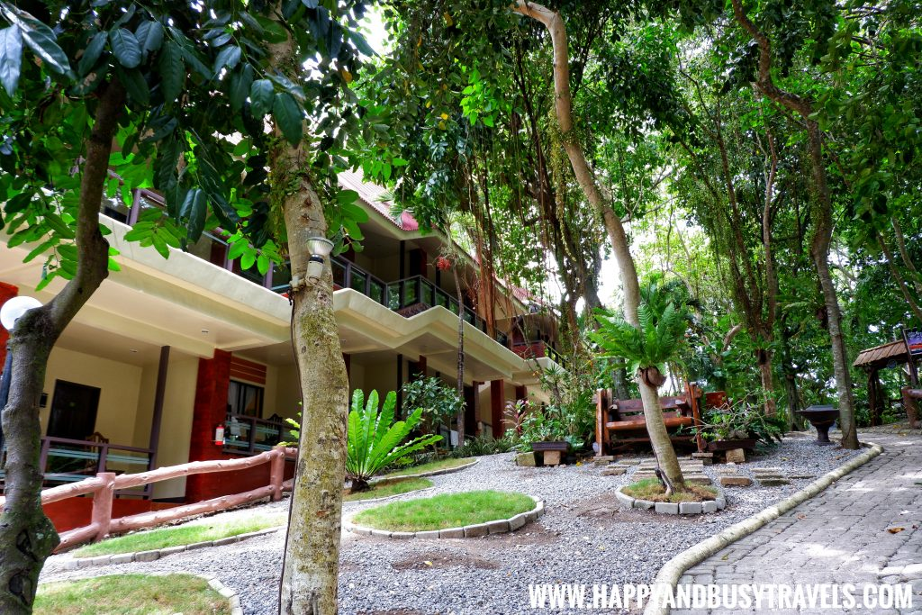 Alona Tropical Beach Resort lush forest