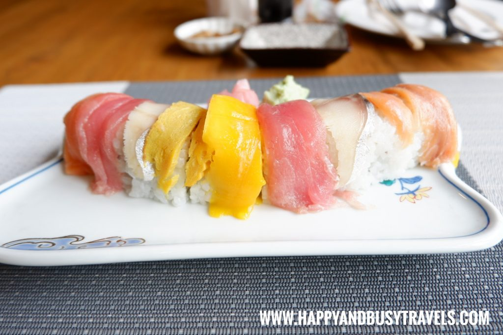 Rainbow Maki of Aozora Japanese Restaurant