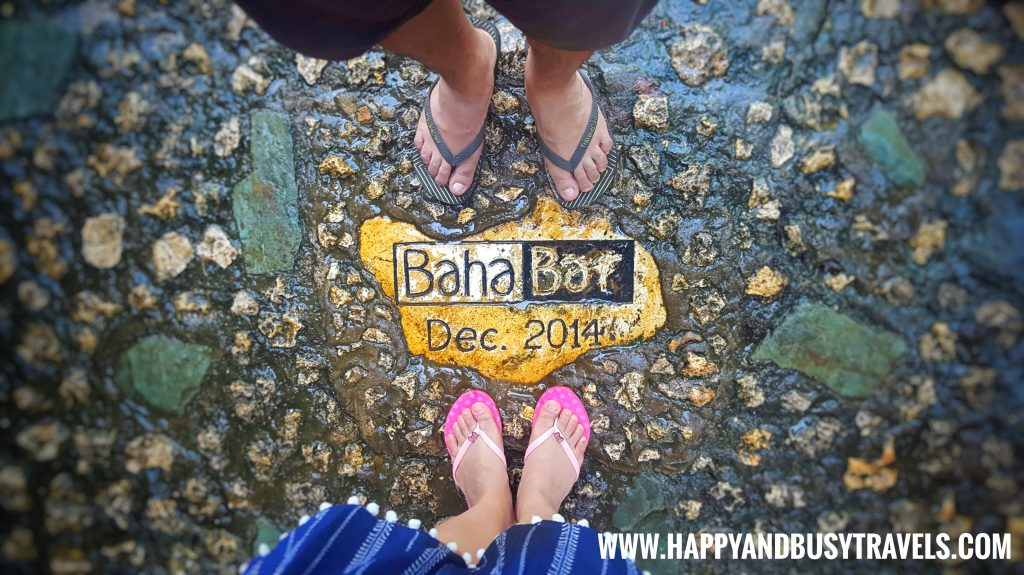 Baha Bar signage on the floor