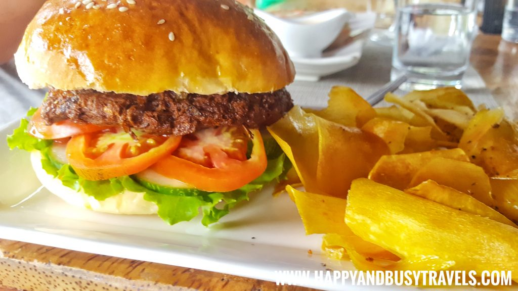 Vegetarian Burger of Baha Bar Siquijor