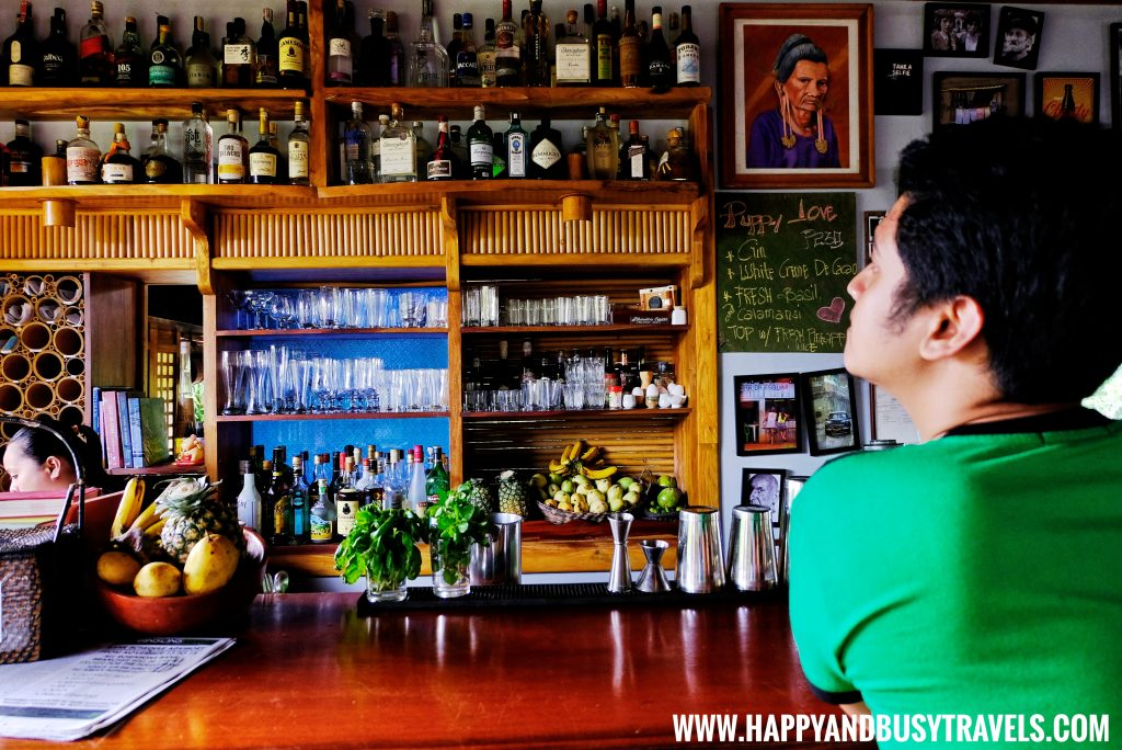 The actual bar at Baha Bar Siquijor