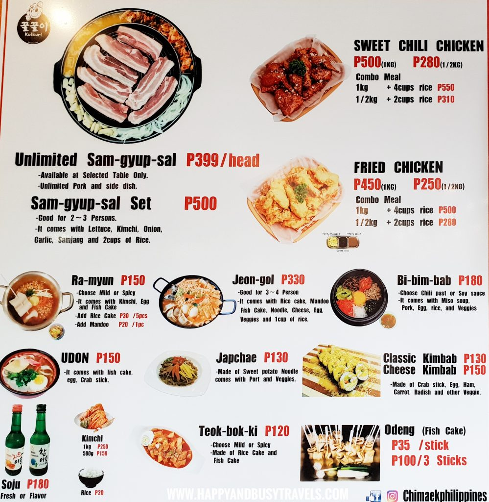 Food Barn Salitran Dasmariñas City Cavite Kulkuri Korean Food Menu