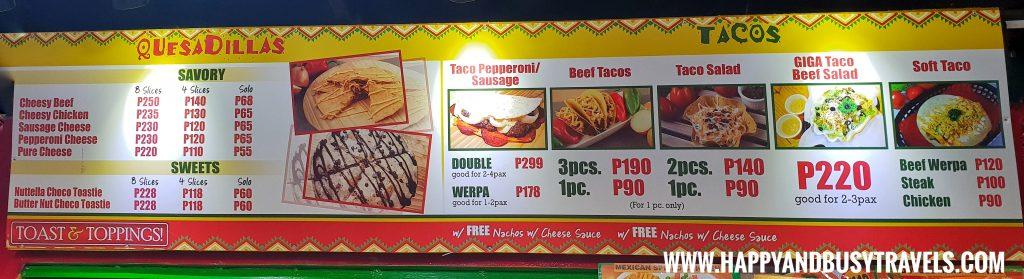 Food Barn Salitran Dasmariñas City Cavite Toast and Toppings Menu