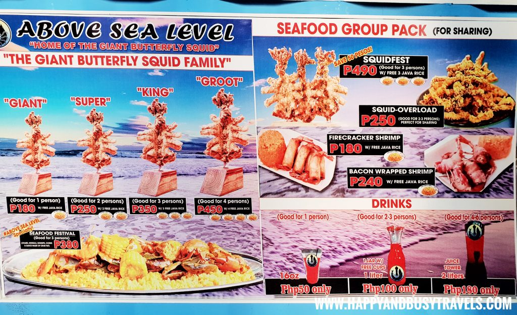 Food Barn Salitran Dasmariñas City Cavite Above Sea Level Giant Butterfly Squids Menu