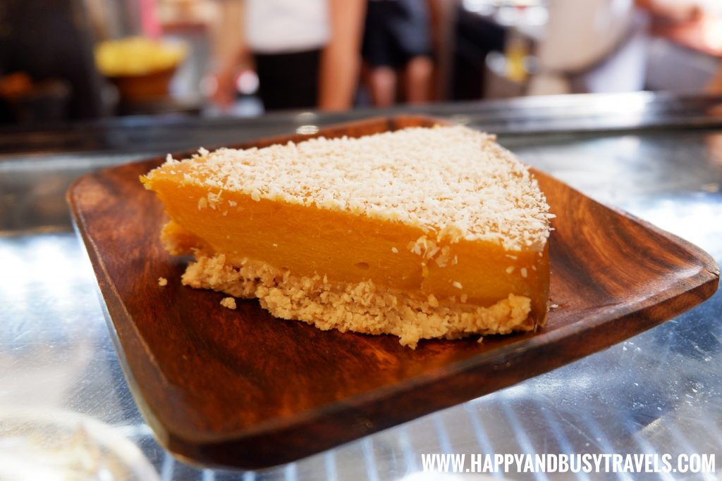 Shaka Restaurant Bohol MAngo Tart with Coconut Shavings