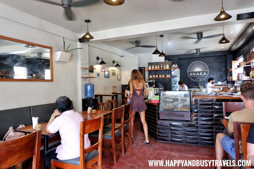 Inside Shaka Restaurant Bohol