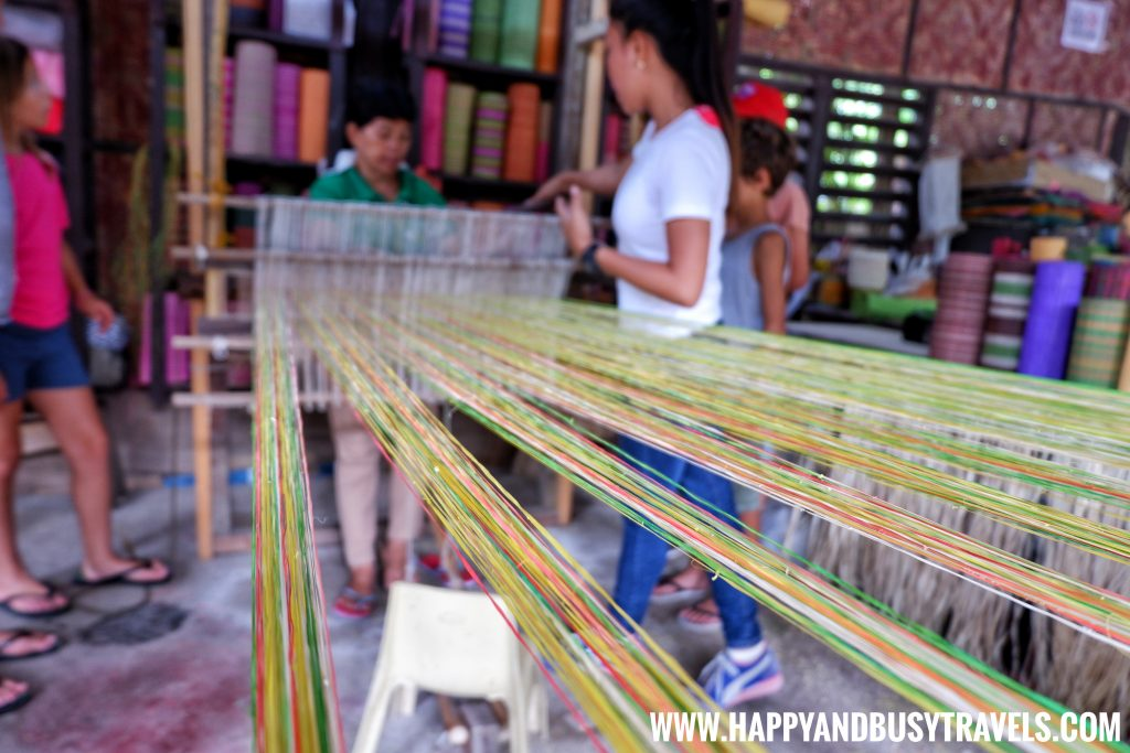 Bohol Bee Farm weaving native cloth Happy and Busy Travels