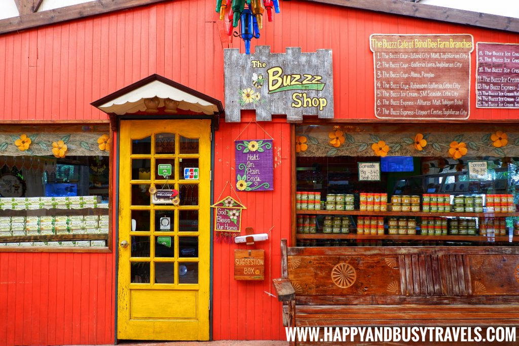 The Buzz Shop souvenir shop of Bohol Bee Farm, Happy and Busy Travels