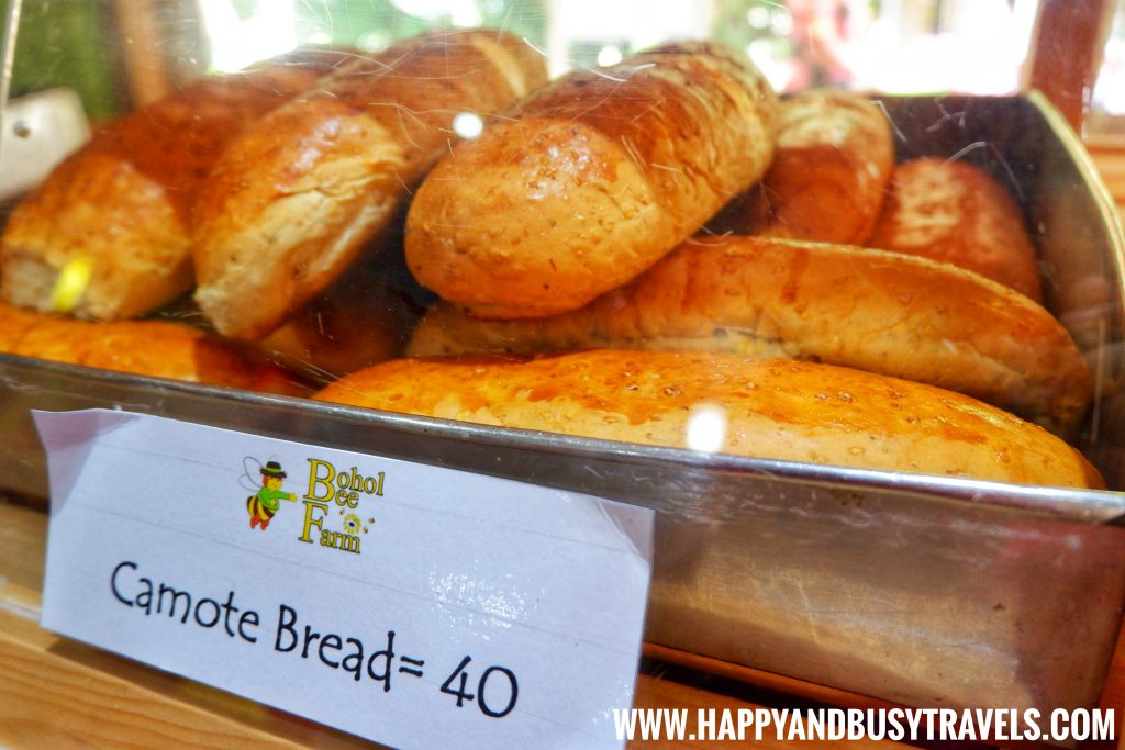 Camote Bread in the Buzz Shop in Bohol Bee Farm