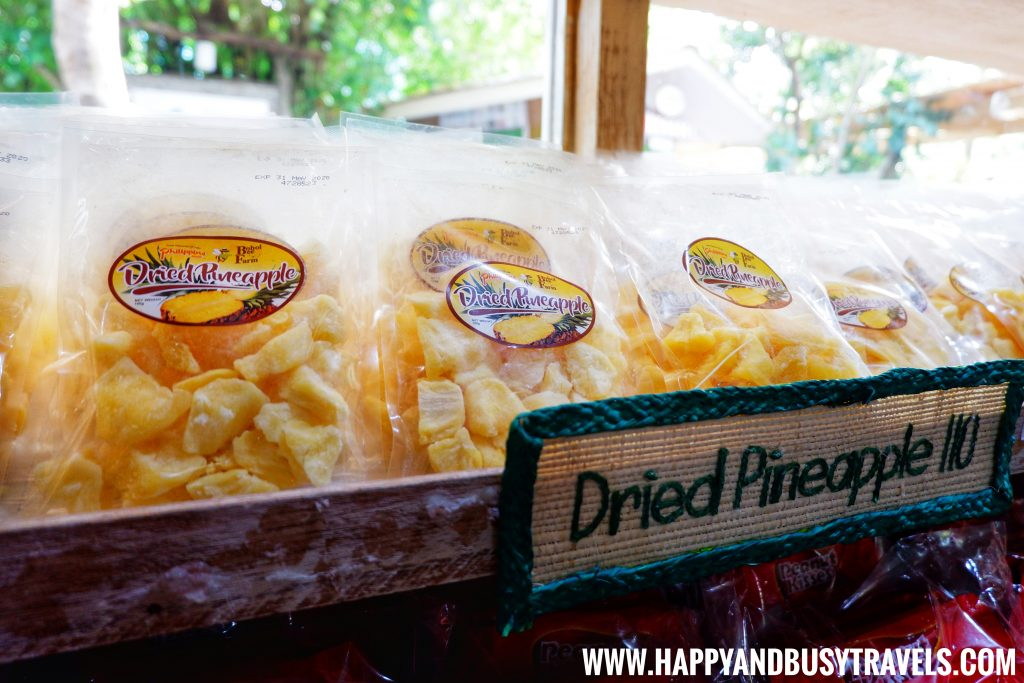 Dried Pineapple from the Buzz Shop at the Bohol Bee Farm