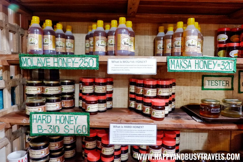 Different kinds of honey at the Bohol Bee Farm