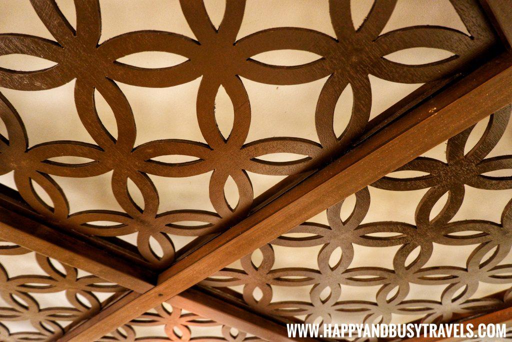 Ceiling of Riyad of Morocco condominium for rent in Tagaytay