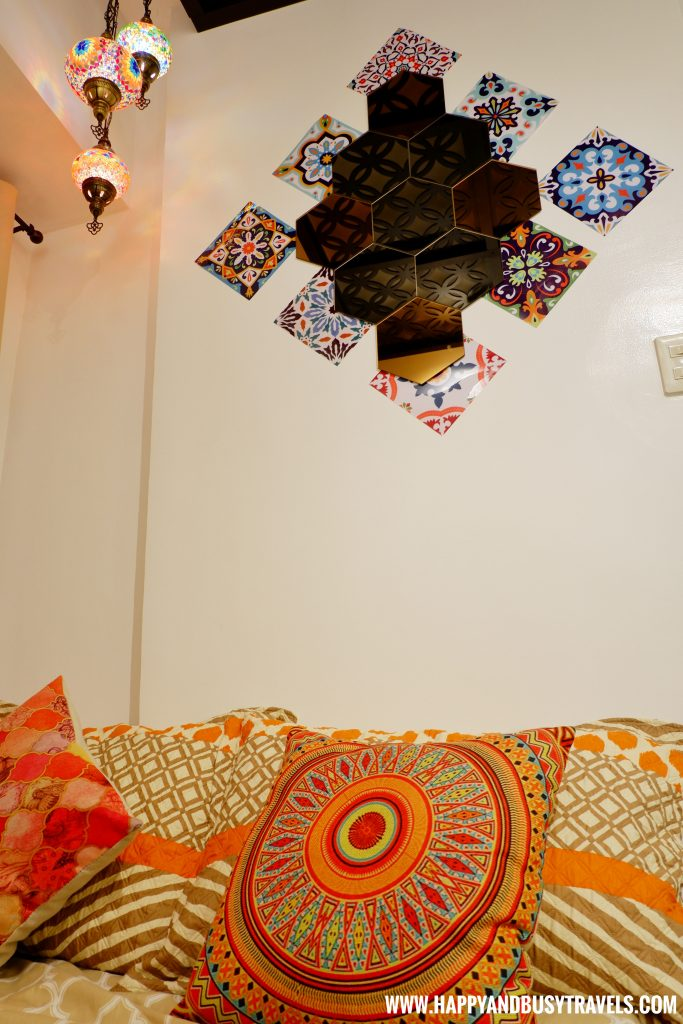 Decorations on the bed Riyad of Morocco condominium for rent in Tagaytay
