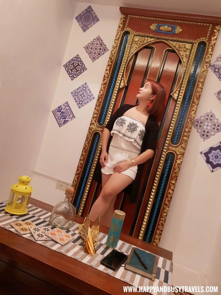 Happy at the IG wall Riyad of Morocco condominium for rent in Tagaytay