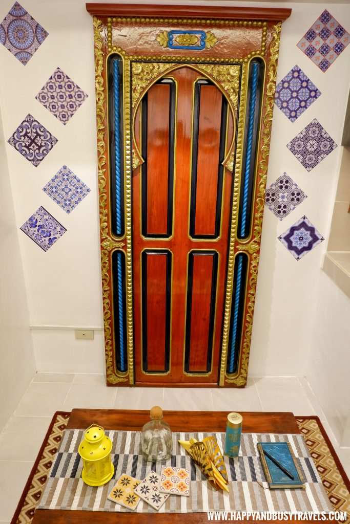Door at the IG wall Riyad of Morocco condominium for rent in Tagaytay