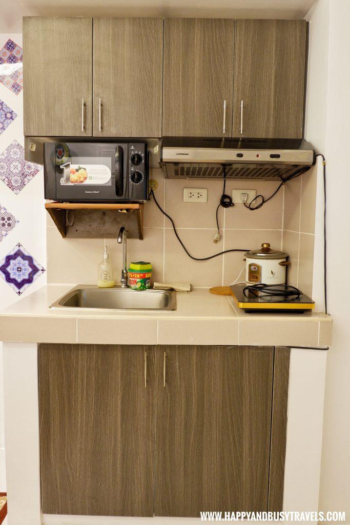 Kitchen of Riyad of Morocco condominium for rent in Tagaytay