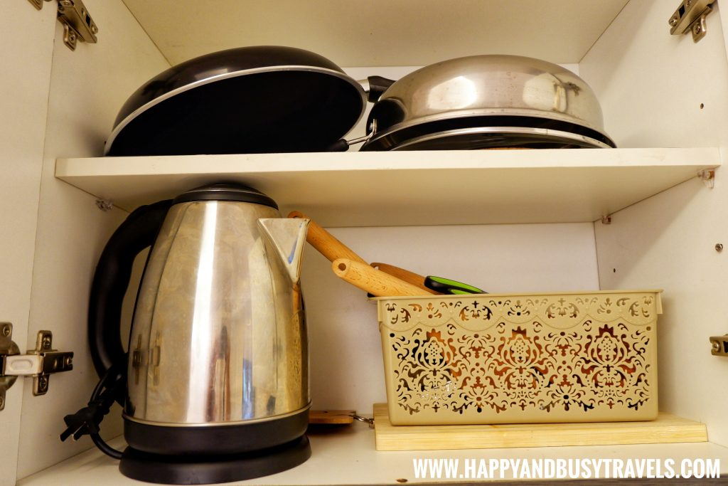 Electric Kettle, frying pan, from Riyad of Morocco condominium for rent in Tagaytay