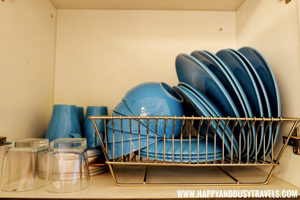 plates, mug, silverware of Riyad of Morocco condominium for rent in Tagaytay