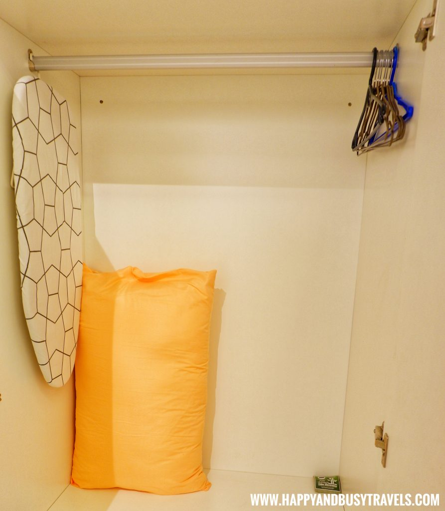 Ironing board, pillow, hanger from Riyad of Morocco condominium for rent in Tagaytay