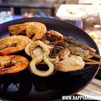 Sea Breeze Cafe Hennan Resort Bohol, Happy and Busy Travels Seafood BBQ Shrimp Squid and Fish