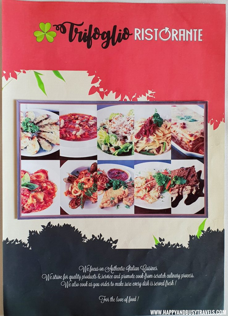 Trifoglio Ristorante Menu Fora Mall Happy and Busy Travels to Tagaytay