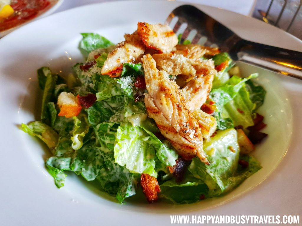 Insalata Cesare or Ceasar's Salad of Trifoglio Ristorante Fora Mall Happy and Busy Travels to Tagaytay