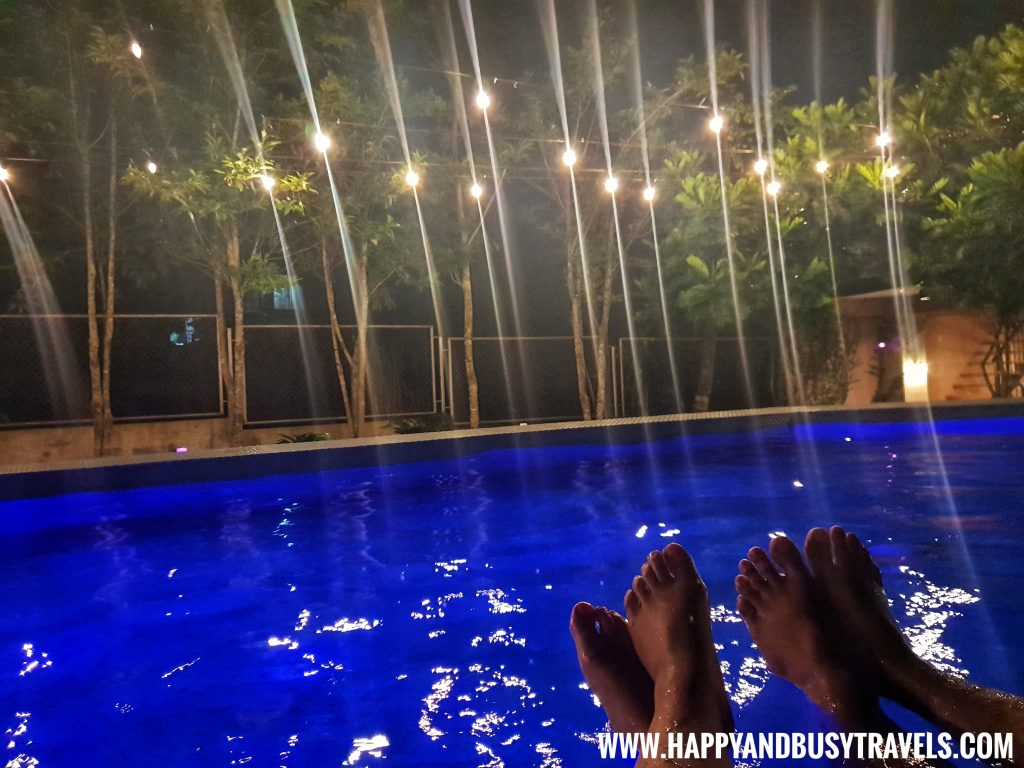 Swimming pool at night of Asian Village Tagaytay Happy and Busy Review