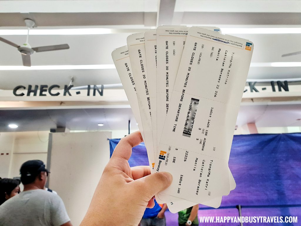 Check in counter and boarding pass from Boracay Airport The New Caticlan Airport article of Happy and Busy Travels