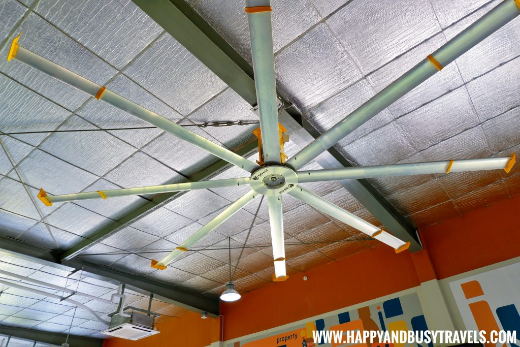 Big ceiling fan in the departure area of Boracay Airport The New Caticlan Airport article of Happy and Busy Travels