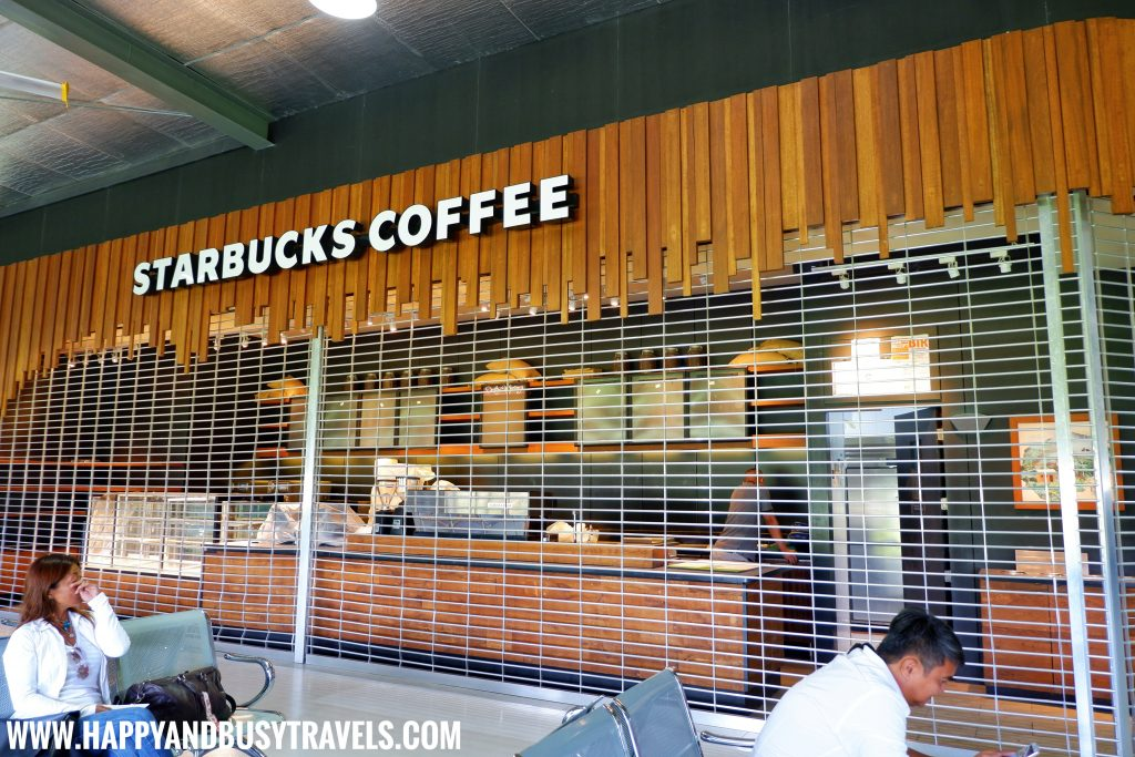 Starbucks Coffee in the departure area of Boracay Airport The New Caticlan Airport article of Happy and Busy Travels