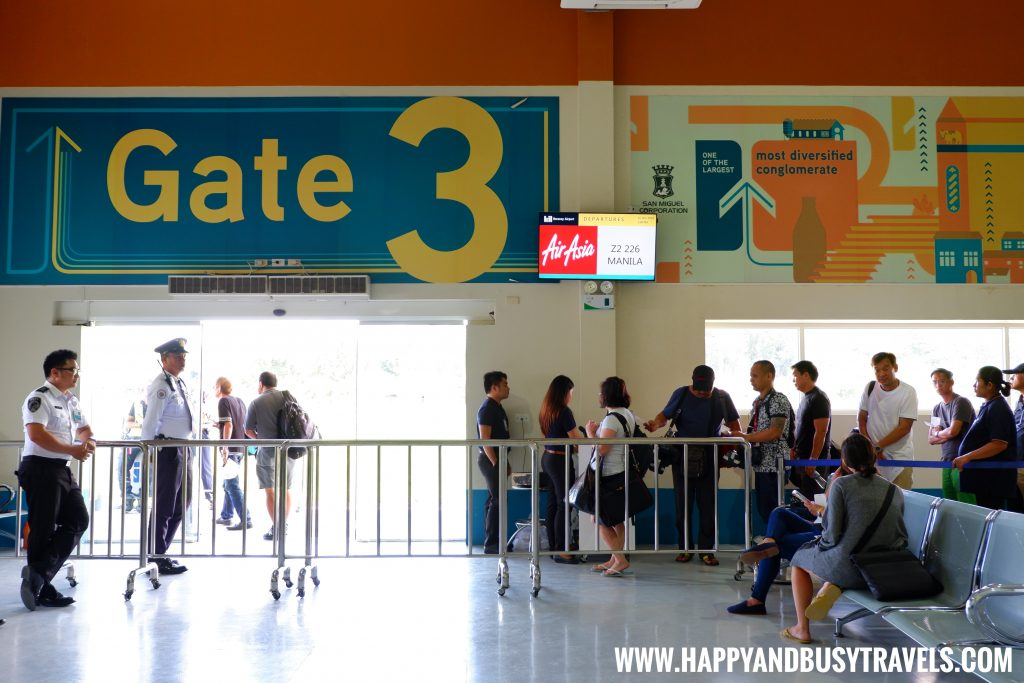 Gate 3 of the departure area of Boracay Airport The New Caticlan Airport article of Happy and Busy Travels