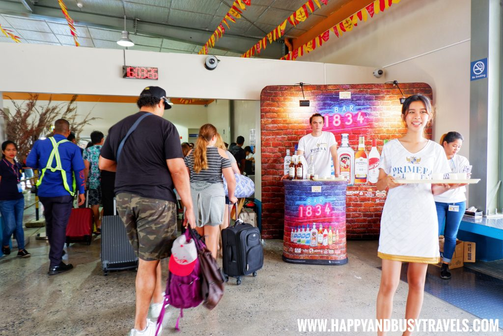 Free drinks at the Boracay airport, the new caticlan airport
