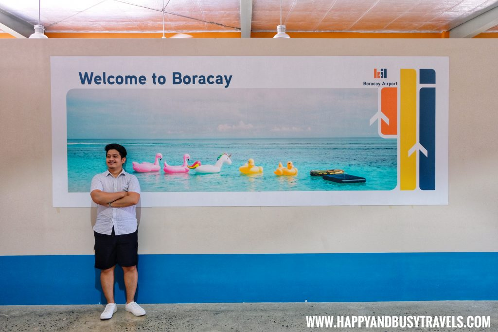 Welcome to Boracay poster in Boracay Airport The New Caticlan Airport article of Happy and Busy Travels