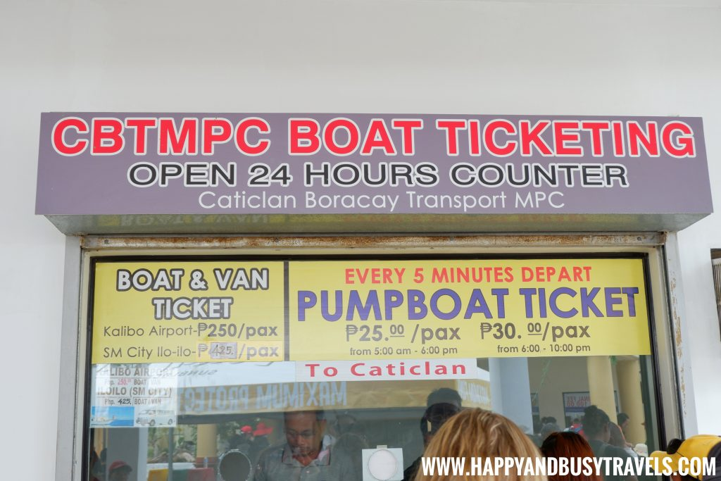 Pumpboat Ticket at the Cagban Port in Boracay Island