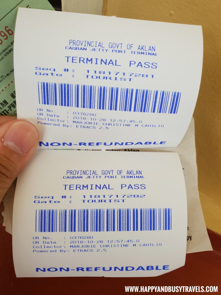 Terminal pass - Cagban Port - Happy and busy travels to Boracay