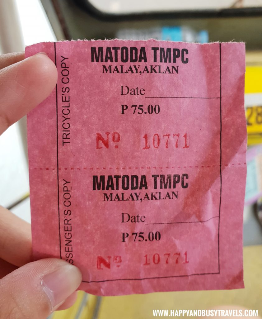 Tricycle Ticket to Boracay Airport