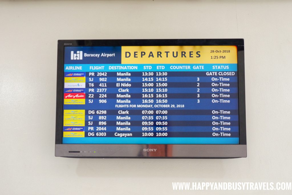 Flights for the day at Boracay Airport