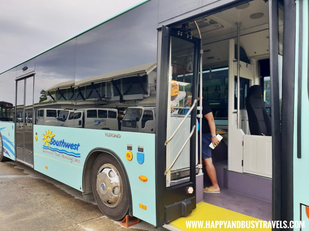 Southwest Travel and tours bus in Boracay Airport