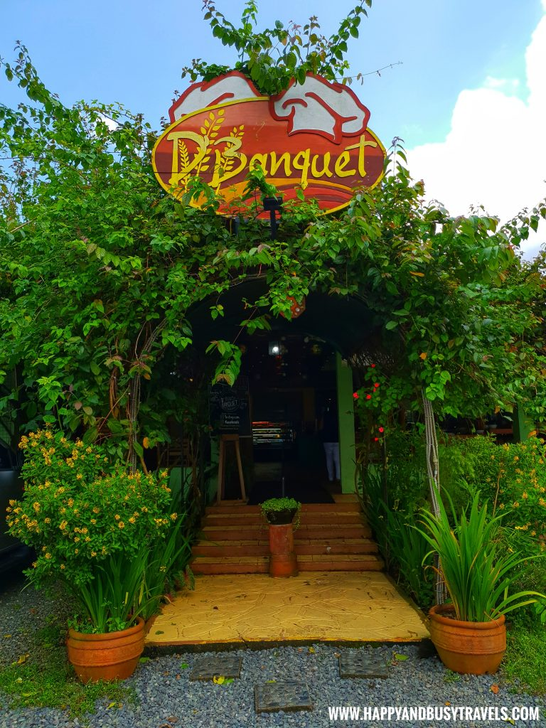 Entrance of D' Banquet Bakeshop and Restuurant Happy and Busy Travels to Tagaytay