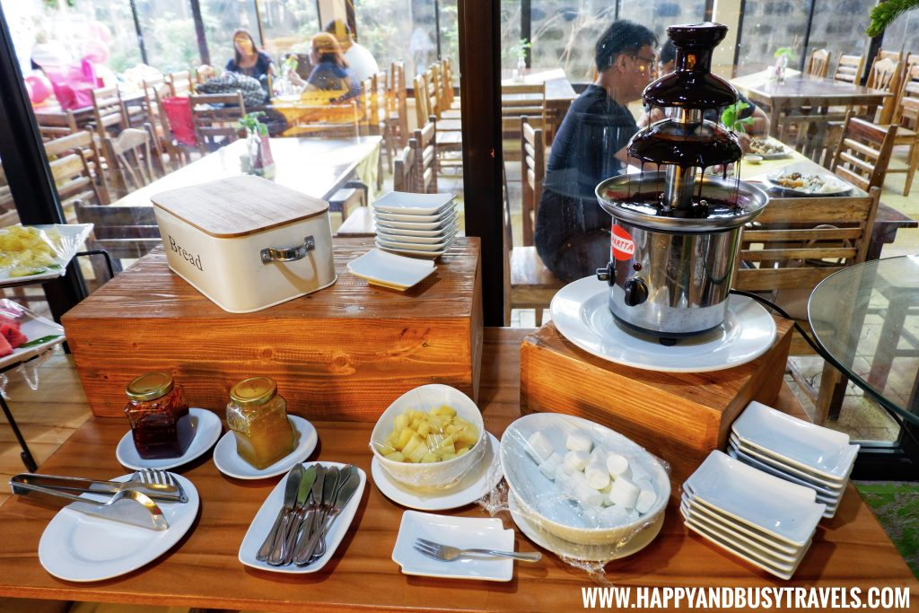 Chocolate Fountain D' Banquet Bakeshop and Restuurant Happy and Busy Travels to Tagaytay