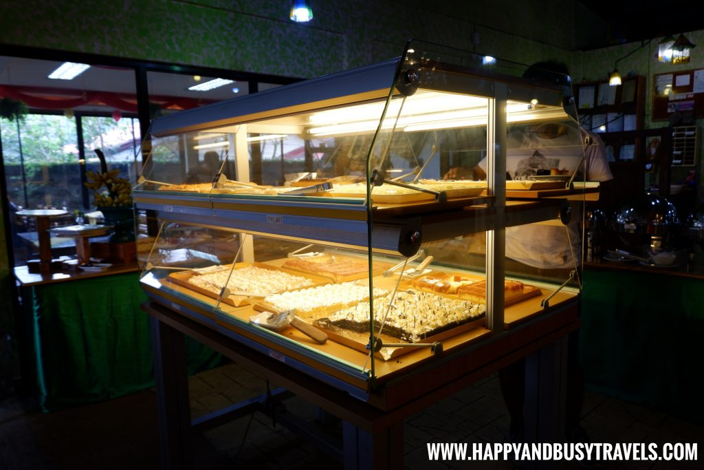 Hygienic dessert cabinets D' Banquet Bakeshop and Restuurant Happy and Busy Travels to Tagaytay